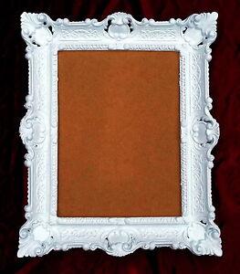 bilderrahmen wei barock shabby 57x47 fotorahmen 30x40 bilderrahmen mit glas ebay. Black Bedroom Furniture Sets. Home Design Ideas