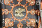 CARRE DE SOIE - HERMES PARIS - ORIGINAL ANCIEN - CUIVRERIES - 90 x 90 cm