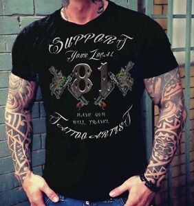 49 hells angels tattoo support81 black t shirt rocker. Black Bedroom Furniture Sets. Home Design Ideas
