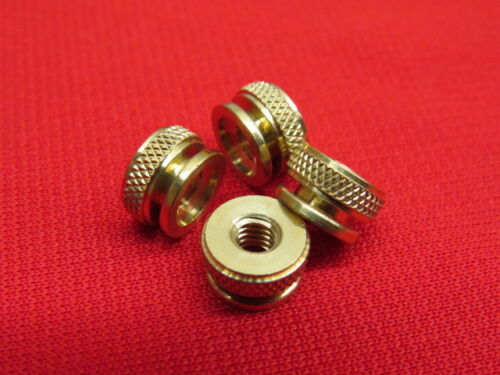 set of 4 A11T For original plugs NEW Ford Model T spark plug knurl nuts brass