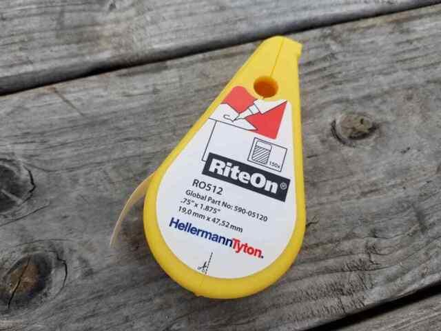 Hellermann Tyton HellermannTyton RO512 Rite-on Self-laminating Label Dispenser for sale online