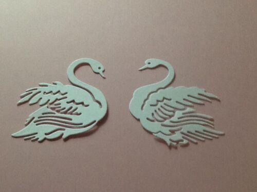 12 x swan découpes Die 6 x face gauche et 6 droite face ** gratuite au royaume-uni frais de port **