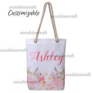 Details About Custom Canvas Tote Bag Personalized Birthday Woman Gift Xmas Wedding Gifts