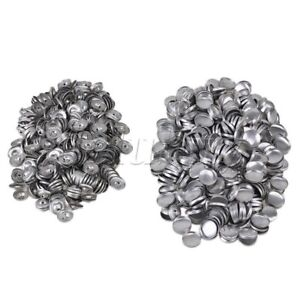 500-x-Silver-Aluminum-Fabric-Cover-Buttons-32L-Self-Cover-Buttons-19mm