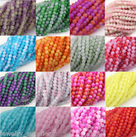 50/100/200Pcs Czech Glass Round Loose Spacer Beads Jewelry Making 4mm 4x6mm