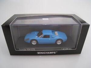 Porsche-904-GTS-en-bleu-limitee-a-1-584-St-Minichamps-echelle-1-43-Nouveau