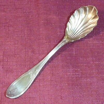 Antique 1847 Rogers Bros 1895 LOTUS Shell Bowl Casserole Spoon 8 78