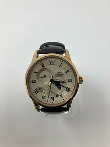 Orient Men's Sun and Moon Version 3 Japanese-Automatic Watch Brown 22 FAK00001Y0
