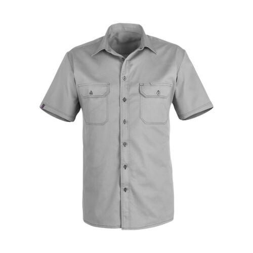 Kübler Arbeitshemd Dresshemd Kurzarmhemd 7506 3333 95 mittelgrau
