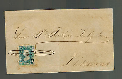 1877 To Linares Mexico Letter Cover Geweldige Prijs