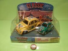 VINTAGE 163  VW VOLKSWAGEN BEETLE CLASSIC - DRAGONFLY + MINI - GC IN BLISTER