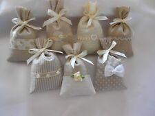 Sachet de lavande de Provence - Collection Cocooning - Toile de lin et coton