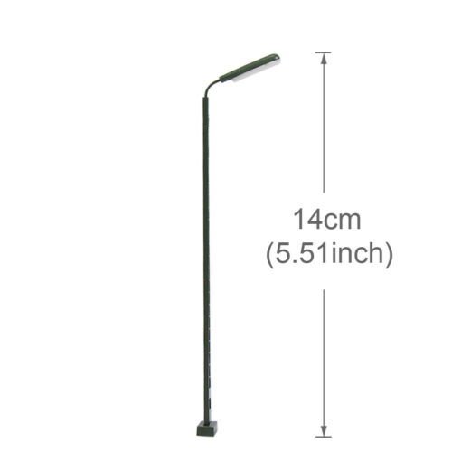 LQS52HO 3pcs Model Railway Station light LED Lattice Mast lamp HO Scale 14cm