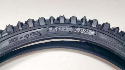 "2 Kids MTB Tyre Tire 20x2.10 Black 20/"" 2.10/"" ATB Dirt Jumping BMX Mountain Bike"