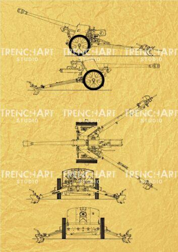 Patent Print Pak 40 Gun 75 mm Poster home wall art German vintage reenactor WWII