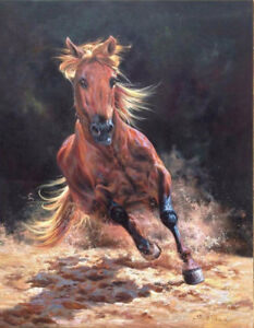 CHENPAT412-100-hand-painted-animal-runing-horse-art-oil-painting-on-canvas