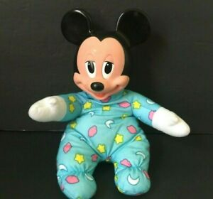 VTG-Hug-and-Glow-Glo-Baby-Mickey-Mouse-Mattel-Light-Up-Doll-Plush-Disney-NO-HAT