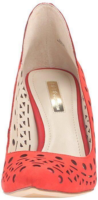 BCBGeneration Taleesa 9 Candy ROT Nubuck Leder Pointed Toe Slip-on Stiletto