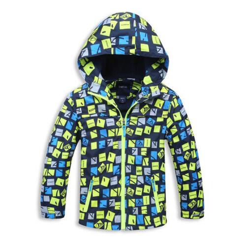 Kids Boys Jacket Spring Autumn Waterproof Camouflage Hoodies Outerwear Coat