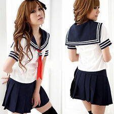 Sexy Cosplay Schulmädchen Kostüm Maid Costume Kostüm Uniform Sailor Kleid Neu