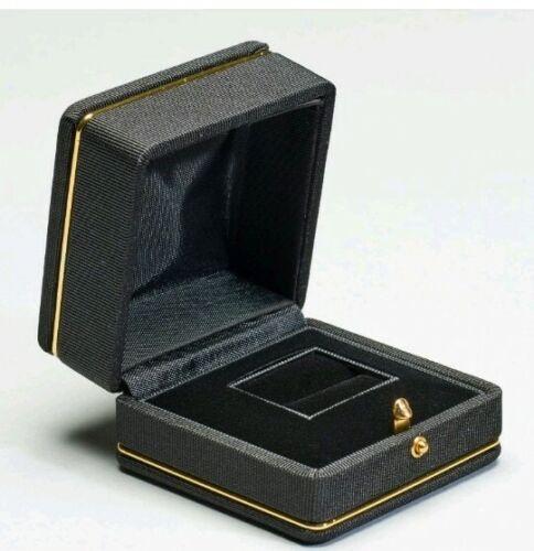 Detalle De Oro Satinado Acanalado Anillo Caja de gastos de envío gratis