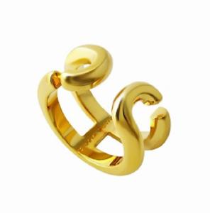 Mark Jacobs MARC JACOBS M0009229-710 gold  J  logo motif icon ring size 7