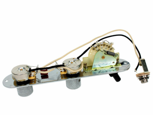 Chrome Fender Loaded 3 way Tele Telecaster Reverse Control Plate CRL CTS
