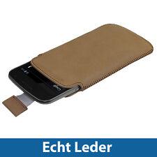 Braun Echt Leder Beutel HalterTaschefürSamsung Galaxy Nexus i9250 Android