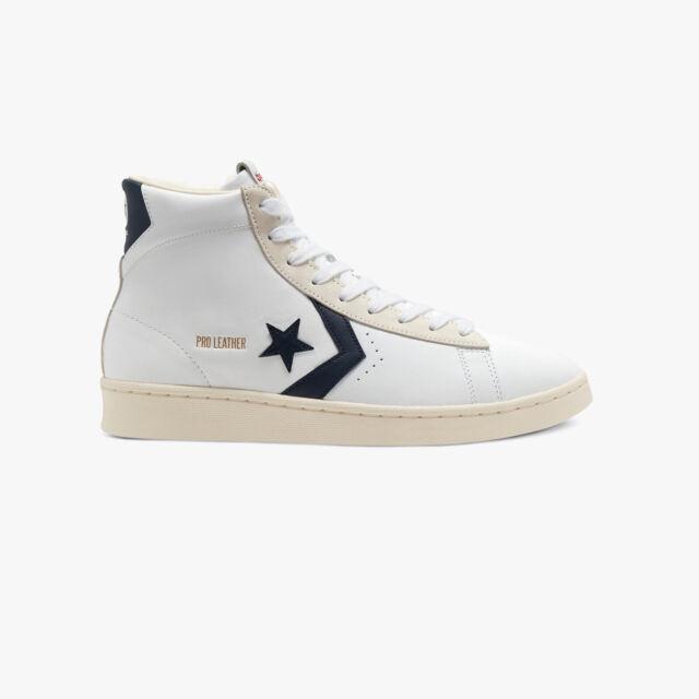 NEW! Converse Pro Leather OG Mid 167968c WhiteObsidianEgret Mens Shoes n1