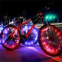 Waterproof Colorful 20 LED Bicycle Lights Bike Lamp Cycling Wheel Spoke Light ES