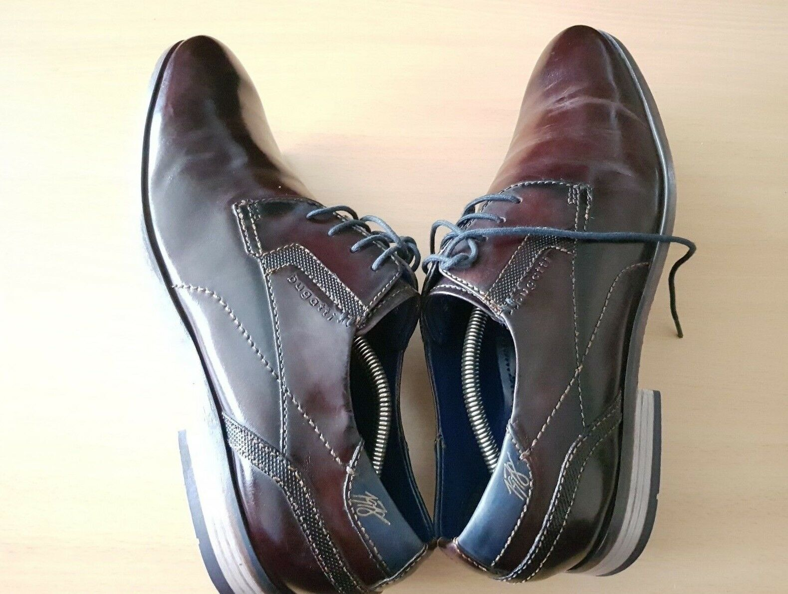 Bugatti Herren Echtleder Halbschuhe Business Schuhe Schnürer gr 45
