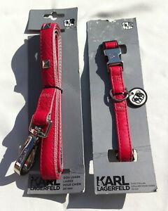 Collier Et Laisse Pour Chien - Karl Lagerfeld Collar & Leash For Dog Signed
