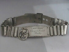 RARE HISTORICAL SILVER PLATE ANTIQUE DOG COLLAR CHEQUERS COURT PRIME MINISTER