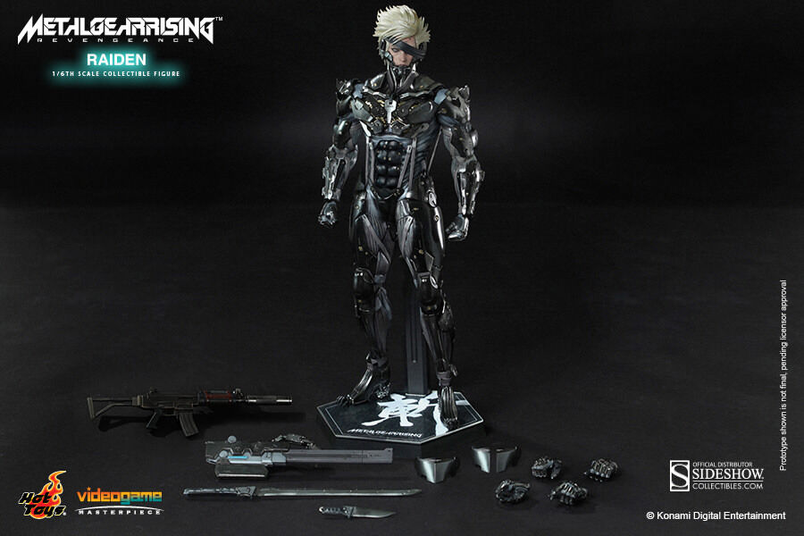 HOT TOYS METAL GEAR RISING REVENGEANCE RAIDEN 1:6 FIGURE Sealed in Braun Box