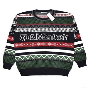 2c0b6a91a NWT Gosha Rubchinskiy Men s Multi Pattern Jacquard Knit Logo Sweater ...
