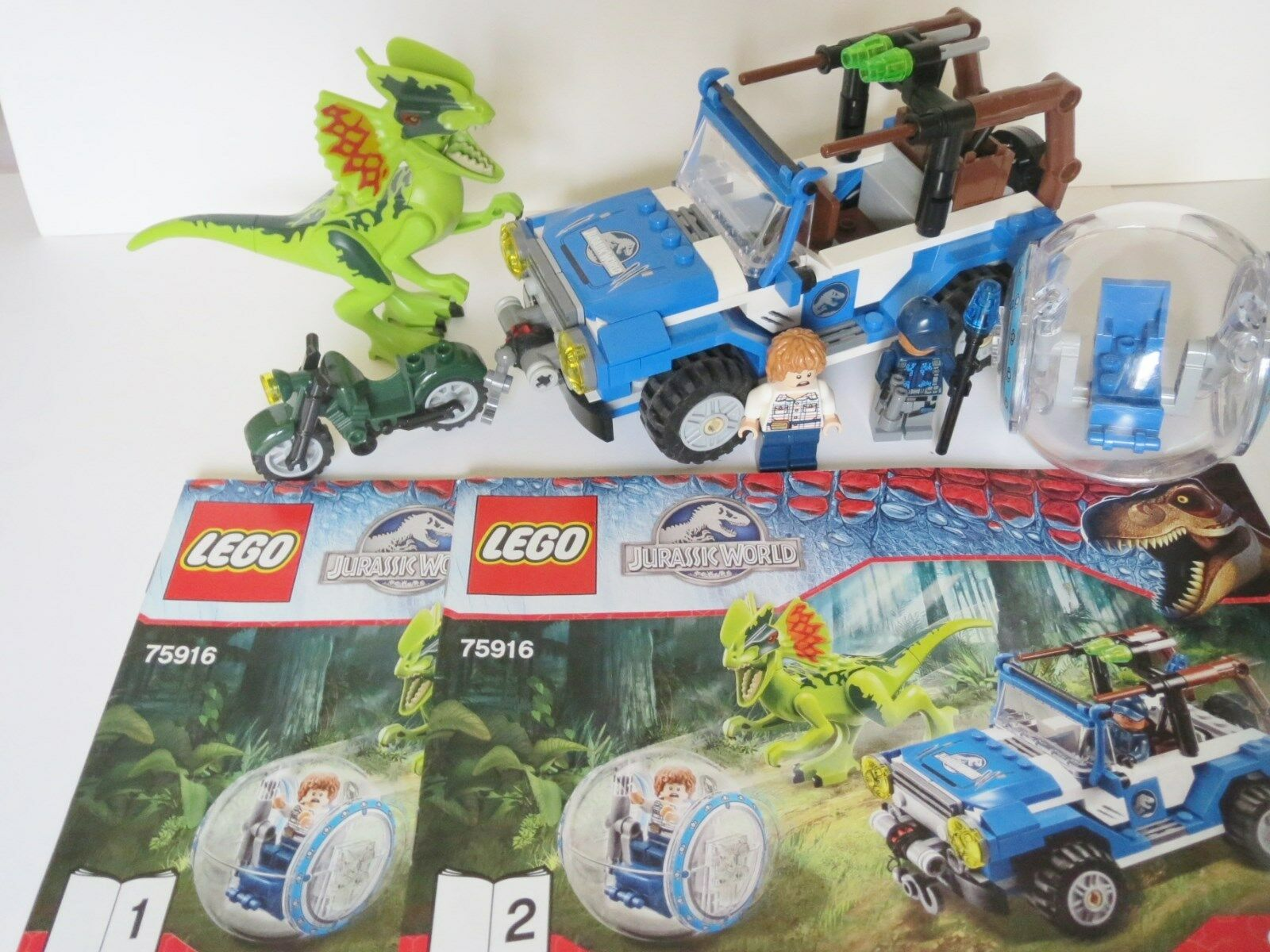 Lego Jurassic World; Dilophosaurus Ambush set 75916 dino.