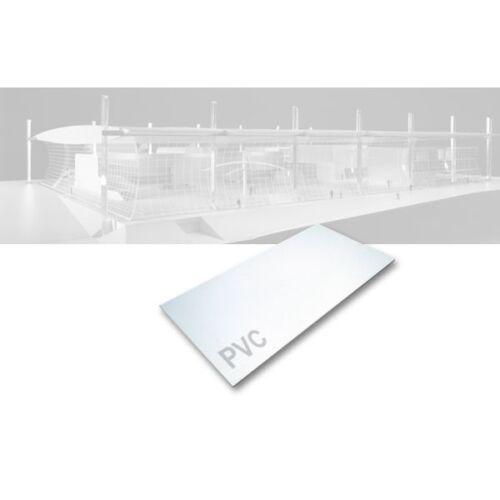 PVC-Platte opak weiß 245 x 495 x 4,0 mm Kunststoff Platte 51,53€//m²