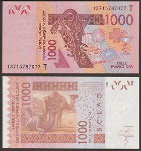 West African States 2000 Francs Togo T p-816T 2019 UNC Banknote