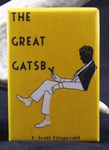 "F Locker Magnet Scott Fitzgerald The Great Gatsby Book Cover 2/"" X 3/""  Fridge"
