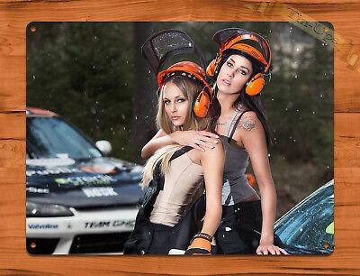 Calendario Stihl.Tin Sign Stihl Helmets Calendar Girl Chainsaw Race Car Garage Wall Decor Ebay