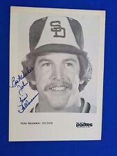 Tomm Tellman auto Padres 1970's Team Issued Photo Autograph Vintage RARE