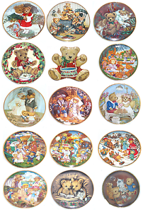 Details about  /Teddy Bear Collector Plate The Frankin Mint Sue Willis Patricia Brooks C Lawson