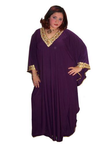 Damen Kaftan Kleid im Butterfly Look Sommer Urlaub Hauskleid  lila//gold KA00959