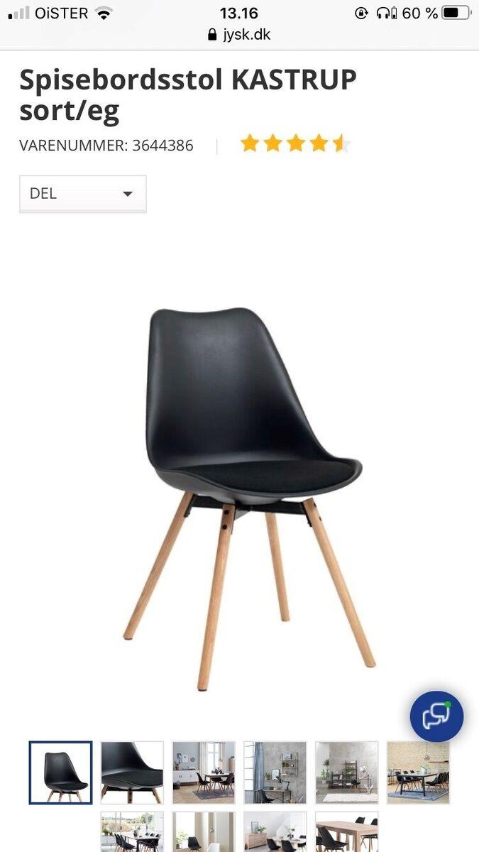 Spisebordsstol, Jysk, Sælger 6 stole , Enkelte brugsspor e