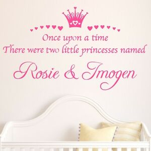Personalised-Once-upon-a-time-Princesses-quote-wall-sticker-Girls-bedrooms