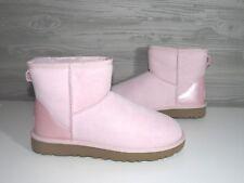 90eef8aef10 UGG Classic Mini II Metallic Seashell Pink Color Suede Sheepskin BOOTS Size  7 US