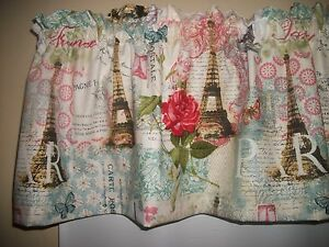 Paris Eiffel Tower French Butterfly Teal Fabric Bedroom