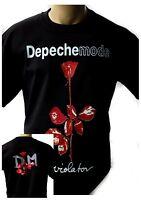 DEPECHE MODE VIOLATOR 1990 Black New T-shirt Rock T-shirt Rock Band Shirt