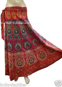 Indian Women Ethnic Floral Rapron Printed Cotton Long Skirt Wrap Around Skirt-4