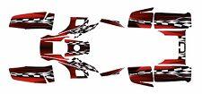 Yamaha Warrior 350 Graphics Decal kit Free Customization #2500-Red